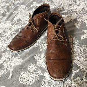 Steve Madden Leather Cognac Chukkas